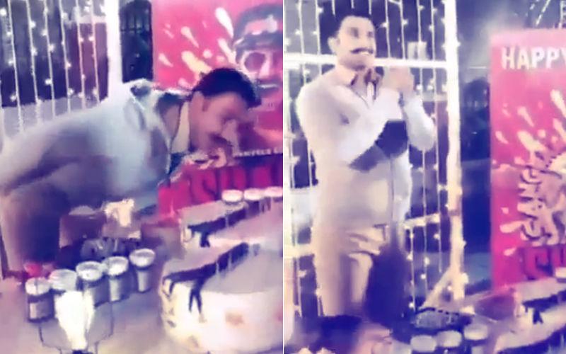 Simmba Crew Surprises Birthday Boy Ranveer Singh With Cake & Firecrackers