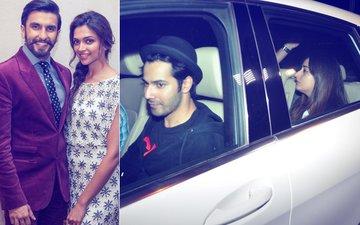 DATE NIGHT: Ranveer Singh Dines With Deepika Padukone, Varun Dhawan & Natasha Dalal Watch A Movie