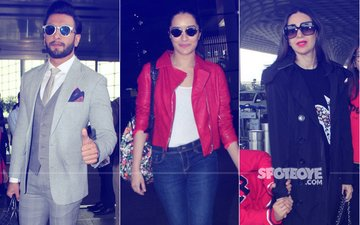 Airport Diaries: Ranveer Looks Dapper, Shraddha Keeps It Chic & Karisma Leaves For Taimur's Birthday