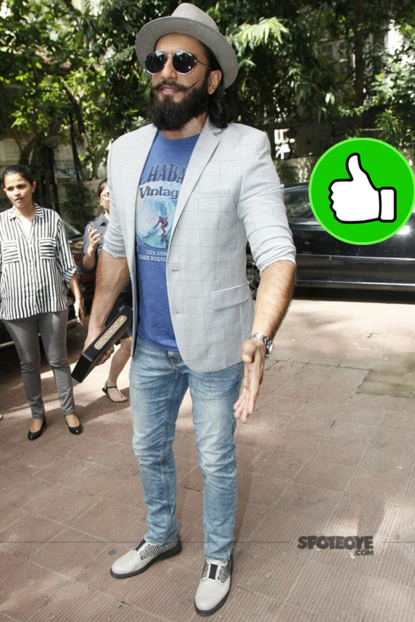 ranveer singh snapped post an event