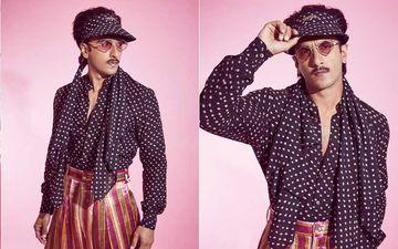 Ranveer Singh Pairs Polka Dot Shirt With Stripe Pants; Netizens Asks, 'Deepika Ke Kapde Pehan Liye Kya?'