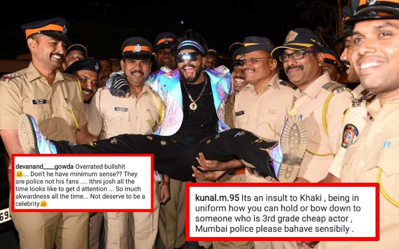 Ranveer Singh Strikes Awkward Pose With Mumbai Police, Gets Trolled