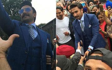 लंदन में रणवीर सिंह ने की अपने फैंस से मुलाकात, ढ़ोल-नगाडो के साथ किया उनका स्वागत