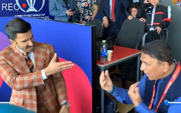 Ranveer Singh Shakes A Leg On Badan Pe Sitare With Sunil Gavaskar During India-Pak Match- Watch Video