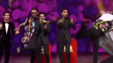 Ranveer Singh HILARIOUSLY Trips Inside A Dhol As He Performs To Wife Deepika Padukone's Nagada Song; Watch Audiences' Reaction – VIDEO