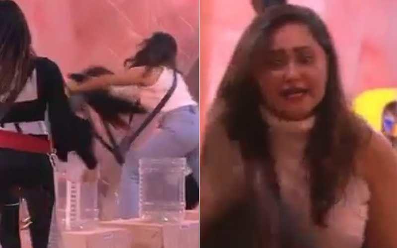 Bigg Boss 13: SHOCKING- Rashami Desai Plots And Pushes Mahira Sharma; Screams At Her For Hurting Arhaan Khan