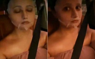 Bigg Boss 13 Fame Rashami Desai Drives With Sheet Mask On; Enjoys Music And Switches Her Chill Mode On-WATCH