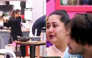 Bigg Boss 13: Madhurima Tuli Smacks Vishal Aditya Singh With A Pan, Calls Him Behenji; Rashami In Tears As Vishal Opts To Leave BB
