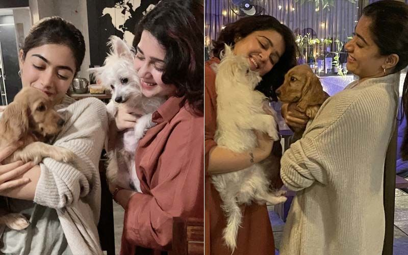 Rashmika Mandanna Flies To Mumbai With Her Furball Aura; The Adorable Pictures Will Make Your Day