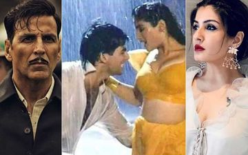 "Akshay Kumar Tweets, ""Tip Tip Barsa Synonymous With Me""; Netizens Say They Only Remember Raveena Tandon And Her Sexy Moves"