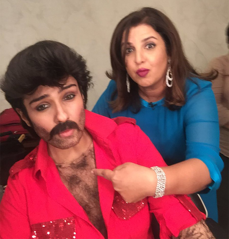 raveena tandon dresses up as anil kapoor
