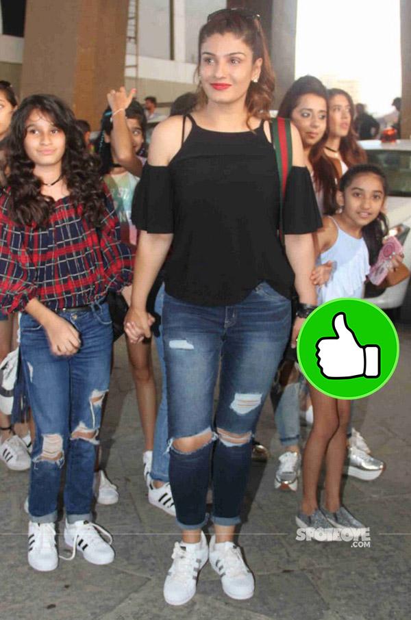raveena tandon along with her gang at justin bieber purpose world tour
