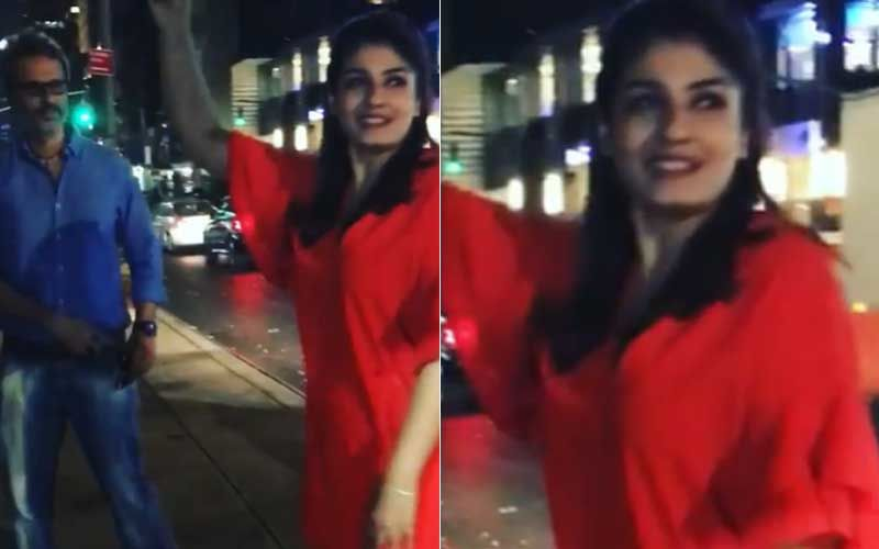 Coronavirus Lockdown: Raveena Tandon Shares A Throwback Video Of Her Dancing With Husband On The Streets Of NY