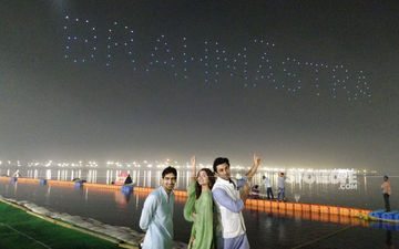 Alia Bhatt-Ranbir Kapoor's Brahmastra Logo Launched In A Grand Manner; 150 Drones Lit Up The Sky