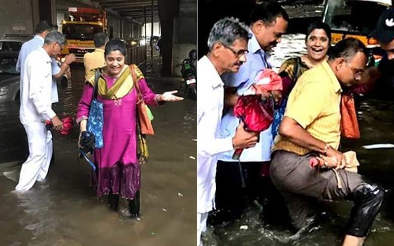 Mumbai Rains: Renuka Shahane's Car Submerges In Water, Passers-By Come To Her Rescue, Actress Hails City's Never-Say-Never Spirit