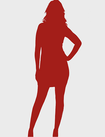 red silhouette posing