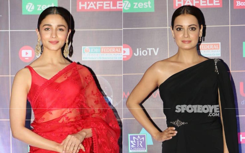 Reel Awards 2019: Alia Bhatt Is Ravishing In Red, Dia Mirza Is Beautiful In Black