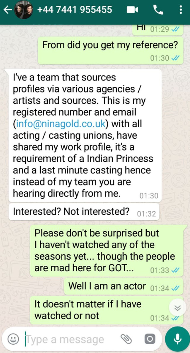 reena aggarwal whatsapp conversation 2