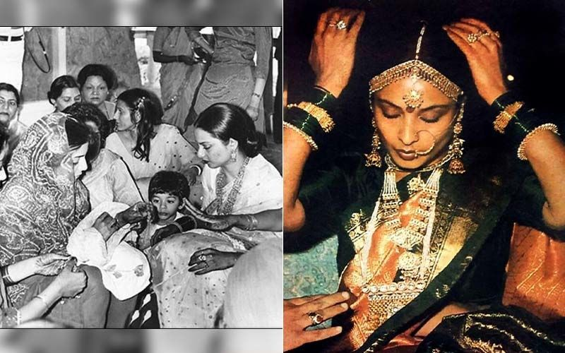 Unseen Pictures From Neetu Kapoor's Chooda Ceremony Where Rekha Can Be Seen Performing A Ritual Are Pure Gold