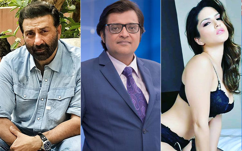 "Republic TV Head Arnab Goswami Calls Sunny Deol As Sunny Leone During LIVE Election Results; Actress Nudges, ""By How Many Votes?"""