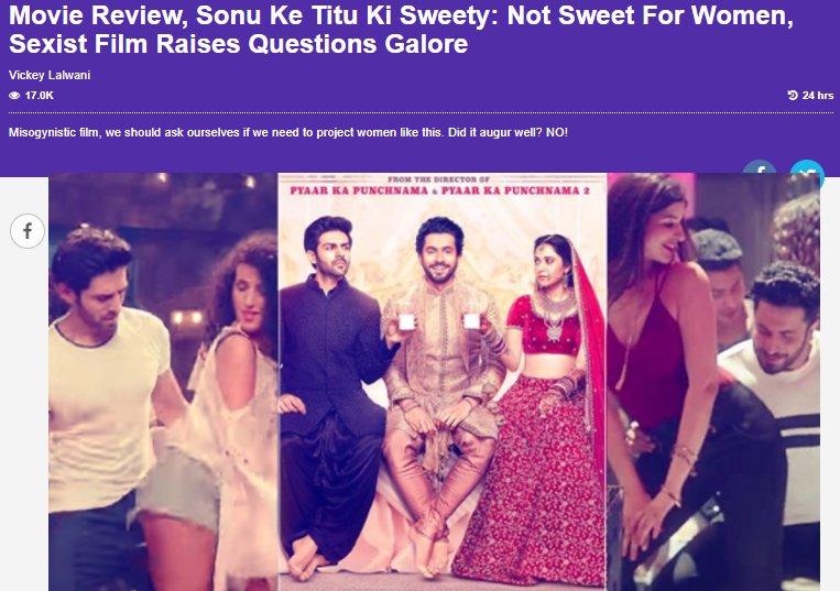 review of sonu ke titu ki sweety