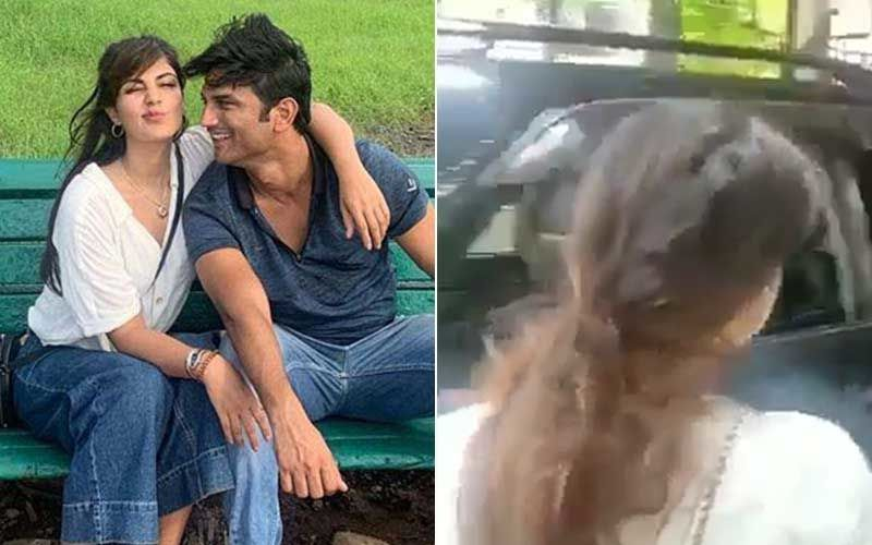 Sushant Singh Rajput Suicide Rumoured Gf Rhea Chakraborty Arrives