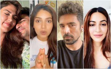 After Rhea Chakraborty Posts Screenshots Of Rape Threats; Her Friends Bhumi Pednekar, Saqib Saleem, Kriti Kharbanda Say 'Stay Strong' And Supports Her
