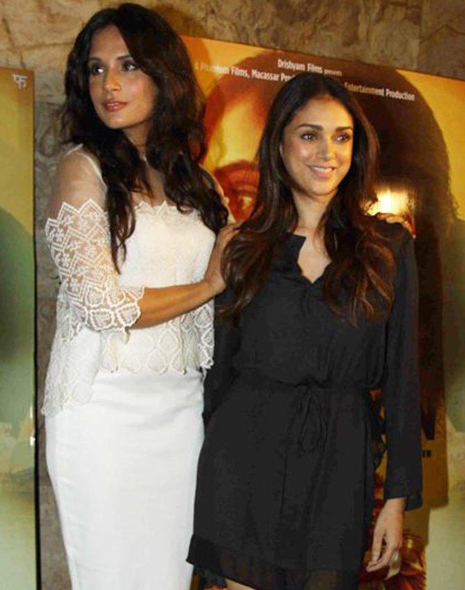 richa chadha and aditi rao hydari during happier times