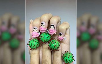 People Are Decorating Their Nails With COVID-19-Inspired Nail Art In Bizarre Trend, Check Pictures