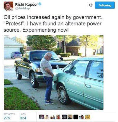 rishi kapoor against oil prices