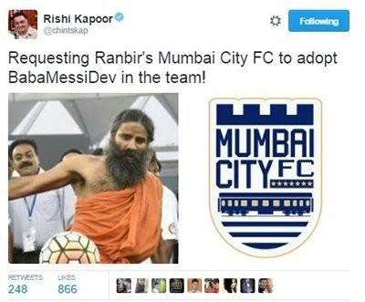 rishi kapoor take on football