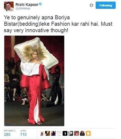 rishi kapoor tweet on models