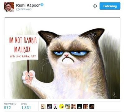 rishi kapoor tweet on ranbir kapoor fan club