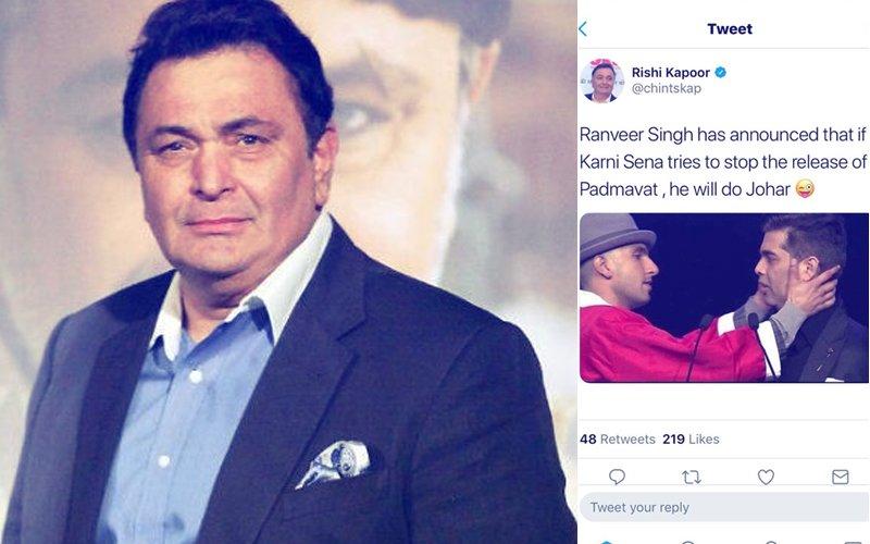 'Ranveer Will Do Johar' Tweet DELETED By Rishi Kapoor As He Gets TROLLED!
