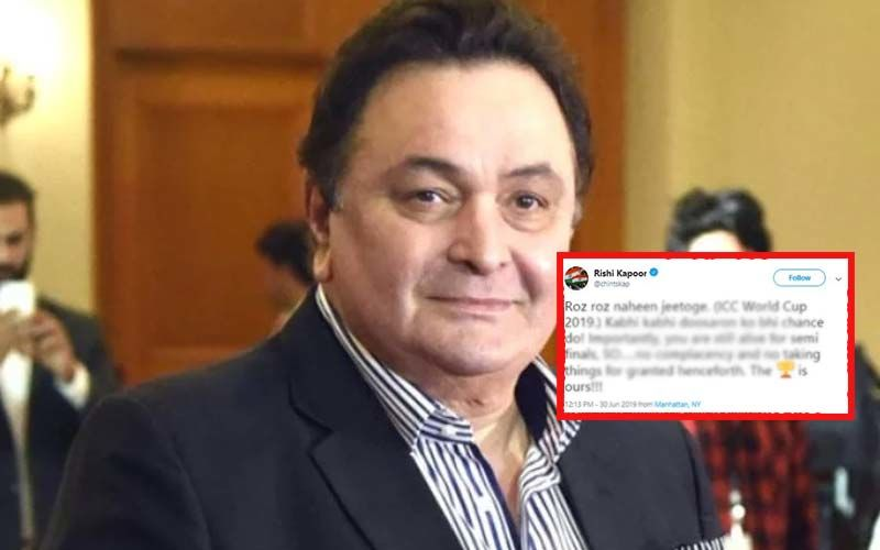 "Rishi Kapoor Unfazed By India's Loss Against England; Tweets, ""The World Cup Is Ours"""