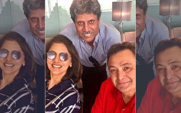 World Cup 2019: Neetu Kapoor Shares A 'Super Charged' Selfie With Rishi Kapoor And Kapil Dev