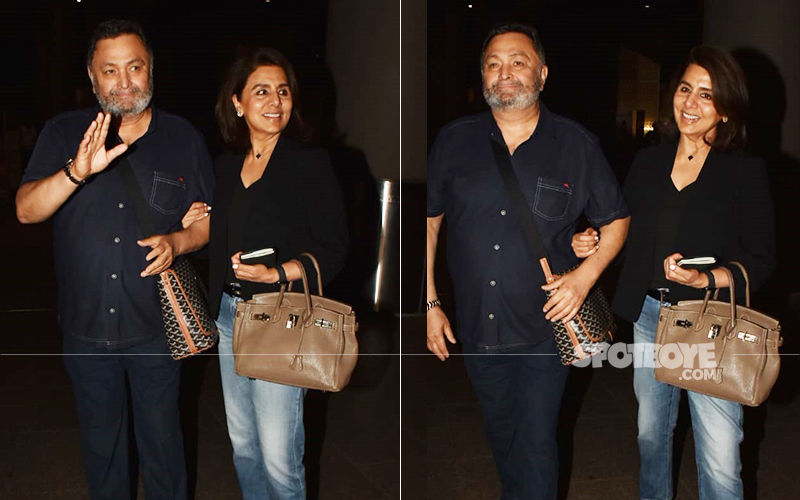 Rishi Kapoor And Neetu Kapoor Are Finally Back To Mumbai After Almost A Year In The US- VIDEO