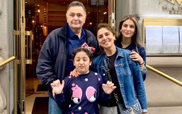 Rishi Kapoor Looks Bright And Happy In A Family Pic Shared By Daughter Riddhima Kapoor Sahni