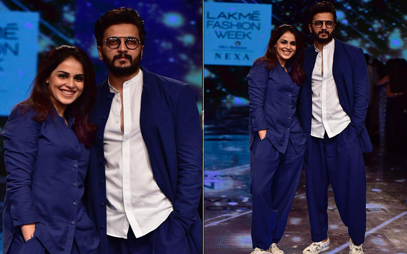 Riteish Deshmukh And Genelia D'Souza At Lakmé Fashion Week 2019: The Couple Twins In Blue As They Take Over The Runway