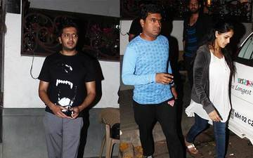 Exclusive: Riteish Deshmukh And Genelia D'souza Snapped Coming Out Of Pizza Corner In Bandra