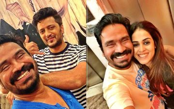 Ritiesh And Genelia Deshmukh Wish Their Favorite Screenplay Writer Mushtaq Sheikh