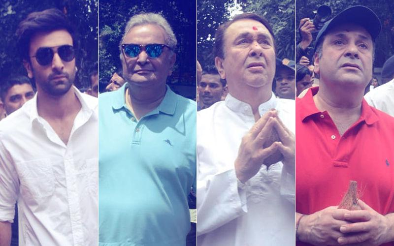 आरके स्टूडियो के गणपति का हुआ विसर्जन, रणबीर, ऋषि, रणधीर और राजीव कपूर ने नम आंखों से दी विदाई