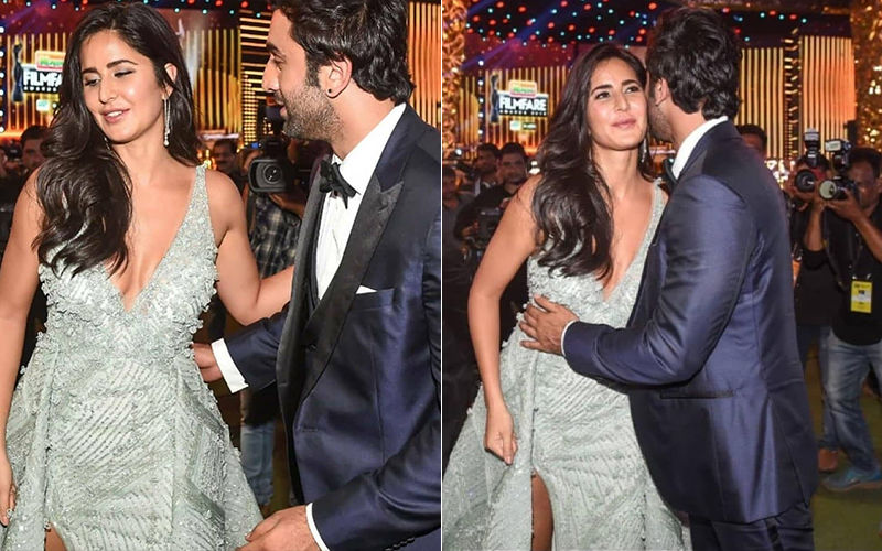 64TH Filmfare Awards 2019: Ex-Lovers Katrina Kaif And Ranbir Kapoor Finally Hug, Kiss & Make Up!