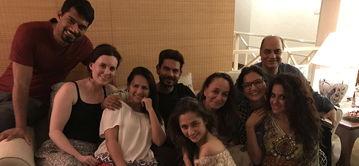 rochelle rao and keith party with sanjeeda and soni razdaan at night