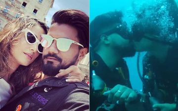 Hina Khan's Beau Rocky Jaiswal Shares A Loved up Throwback Picture; Lock Lips Under Water Calling It 'Love In The Deep'