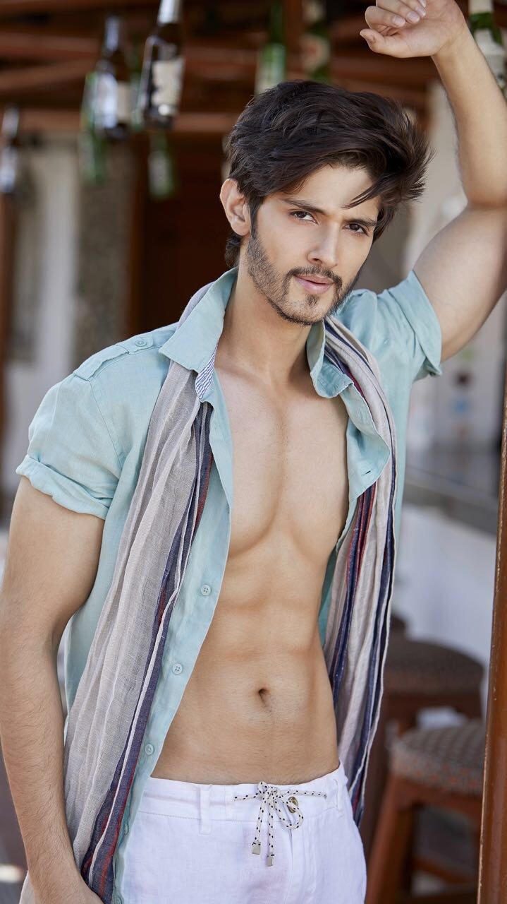 rohan mehra shows off his chiseled body