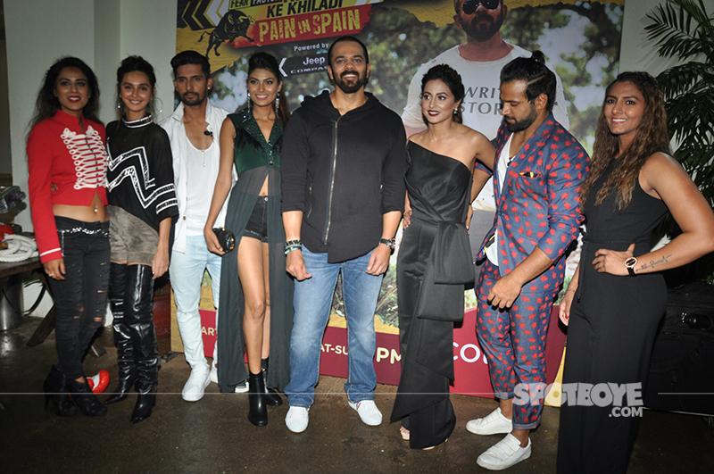 rohit shetty with khatron ke khiladi 8 contestants
