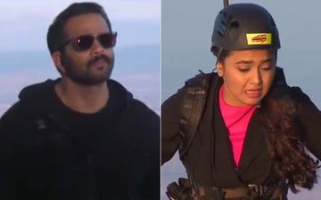 Khatron Ke Khiladi 10: Rohit Shetty Walks Away From Tejasswi Prakash Leaving Her On A Beam Suspended In Air –WATCH