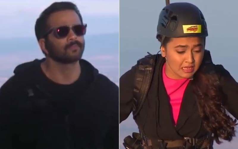 Khatron Ke Khiladi 10: Rohit Shetty Walks Away From Tejasswi Prakash Leaving Her On A Beam Suspended In Air –WATCH