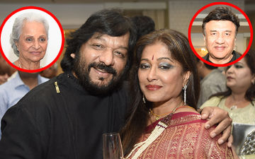 Waheeda Rehman, Anu Malik At Roopkumar Rathod's Surprise Birthday Bash